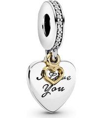 """charm pendente """"love you forever"""" (te amo para sempre)"""