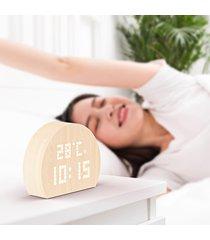 plus - dot novela semicircle pantalla led reloj despertador-