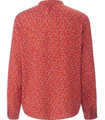 blouse met lange mouwen van peter hahn rood