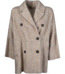 brunello cucinelli double-breasted check coat