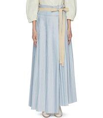 'lafia' ribbon asymmetric pleated skirt