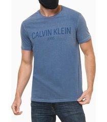 camiseta mc regular logo meia pig gc - azul médio - pp