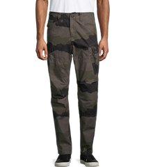 g-star raw men's camo-print cotton cargo pants - battle green - size 31 32