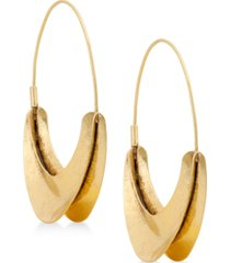 """lucky brand extra large 2-2/5"""" hoop earrings"""