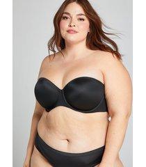lane bryant women's lightly lined multi-way strapless bra 38i black