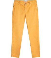 pantalón para mujer dril color amarillo, talla 6