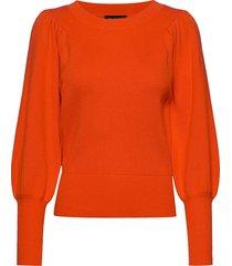 slftine ls knit o-neck b gebreide trui oranje selected femme