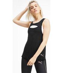 shift knitted training tanktop voor dames, zwart, maat xs   puma