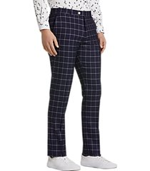 paisley & gray slim fit suit separates pants navy & white windowpane