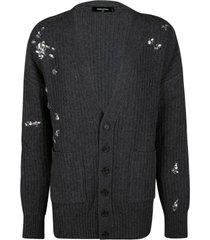 dsquared2 crystal embellished knit cardigan