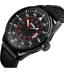 reloj casual hombre skmei 9113 negro