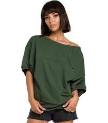 blouse style s153 fit and flare v-hals jurk - rood