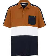 poloshirt men plus marine::cognac