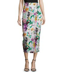 addison floral-print skirt