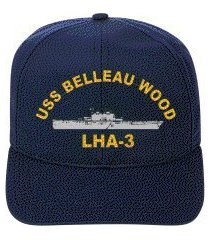 uss belleau wood lha-3 embroidered ship cap