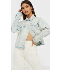 polo ralph lauren bleached denim trucker jacket jeansjackor