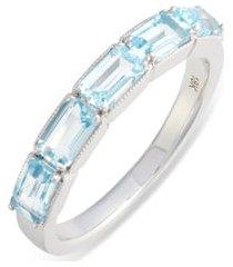 women's bony levy blue topaz baguette stack ring (nordstrom exclusive)