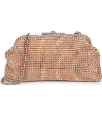 reiss women's adaline crystal bead clutch - pasman pink