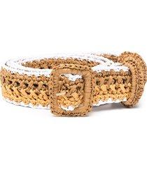 philosophy di lorenzo serafini striped braided belt - neutrals