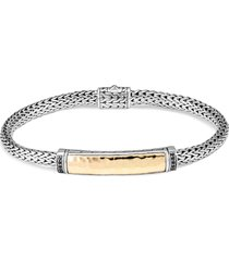 'classic chain' sapphire silver yellow gold extra small bracelet