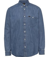 riveted shirt skjorta casual blå lee jeans