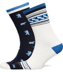 cotton-blend socks in seasonal patterns underwear socks regular socks svart scotch & soda