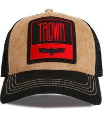 gorra beige trown headware trucker