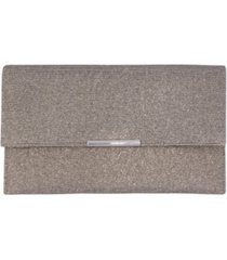 la regale metallic animal sparkle jacquard double pocket envelope clutch
