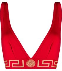 versace sutiã cortininha greca - vermelho