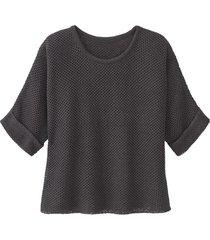 gebreide trui van linnen, leisteengrijs 40
