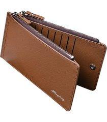 billetera, bolso de tarjeta de visita cruzada-marrón