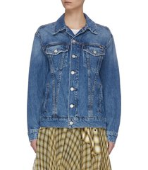 'the buttoned up drifter' sleeve button denim jacket