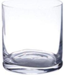 conjunto lyor com 6 copos baixos de cristal ecológico 410ml transparente - tricae