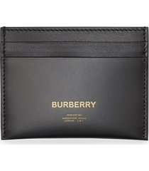 burberry horseferry print leather card case - black