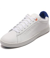 tenis lifestyle blanco-azul le coq sportif break tech