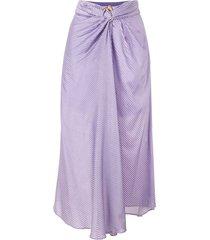 acler blackburn ribbed midi skirt - purple