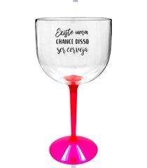 6 taã§as gin transparente com base rosa personalizada para live - transparente - dafiti