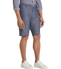 paisley & gray slim fit suit separates shorts blue chambray