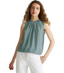 blusa de lenzing  ecovero  azul marino esprit