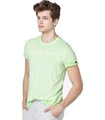 camiseta convicto denim verde claro - verde - masculino - algodã£o - dafiti