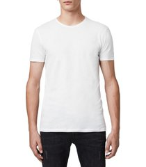 men's allsaints slim fit crewneck t-shirt, size x-large - white