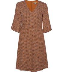 dresses light woven korte jurk bruin esprit casual