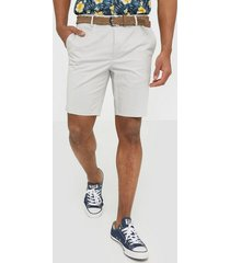 river island smart axis short belted shorts stone