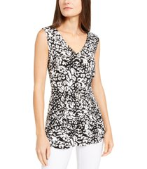 alfani printed buckle-front top, created for macy's