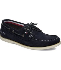 classic suede boatshoe shoes business loafers blå tommy hilfiger
