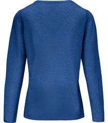 trui van scheerwol en kasjmier met ronde hals van include blauw