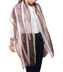 python stripe oblong silk scarf