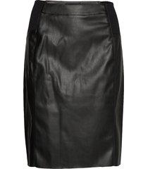 vmbuttersia hw coated skirt noos kort kjol svart vero moda