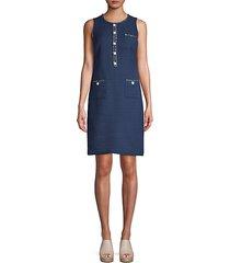 embellished sleeveless shift dress