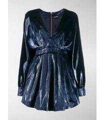 balmain velvet v-neck mini dress